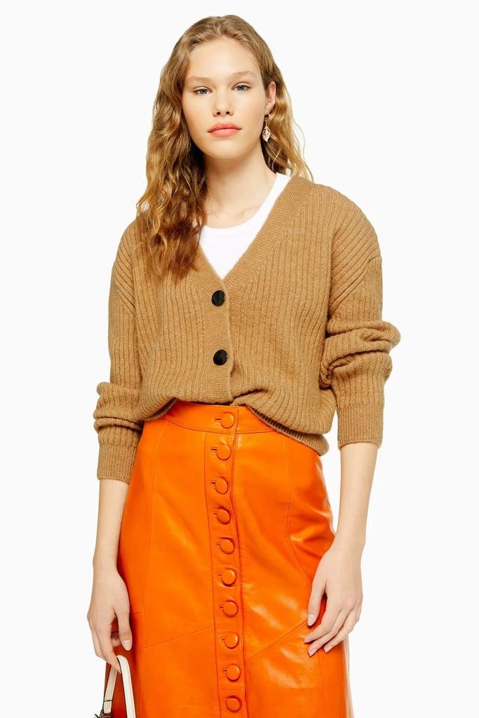 Topshop Super Soft Ribbed Cardigan