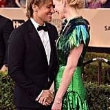 The pair showed off their sweet love when they attended the SAG Awards in January 2017.