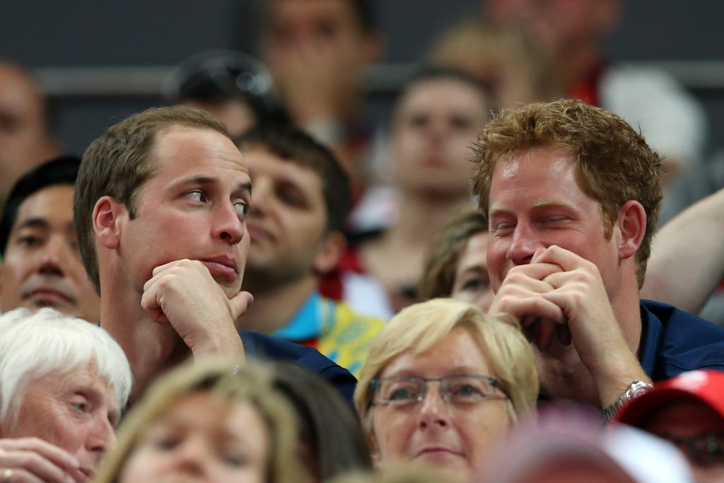 Prince Harry laughed during the event.