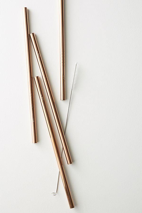 Ever Eco 4-Pack Rose Gold Straws
