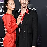 Finneas O'Connell and Claudia Sulewski on the American Music Awards Red Carpet in 2019