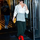 Victoria Beckham Red Boots