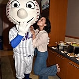 Demi Lovato and Nick Jonas at New York Mets Game July 2016