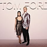 Violetta Komyshan and Ansel Elgort at Tom Ford Fall 2019