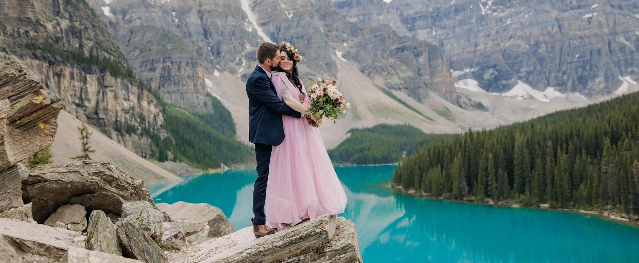 Elopement at Moraine Lake in Banff National Park