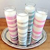Dollar-Store Glitter Candles
