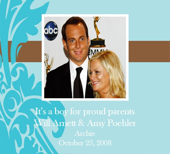 Amy Poehler and Will Arnett Welcome Baby Boy!