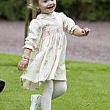 Princess Estelle at Crown Princess Victoria's 37th Birthday Party