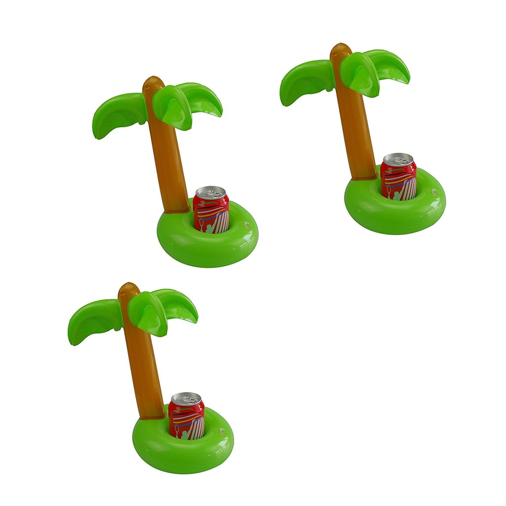 Mirenlife Inflatable Palm Island Drink Holders