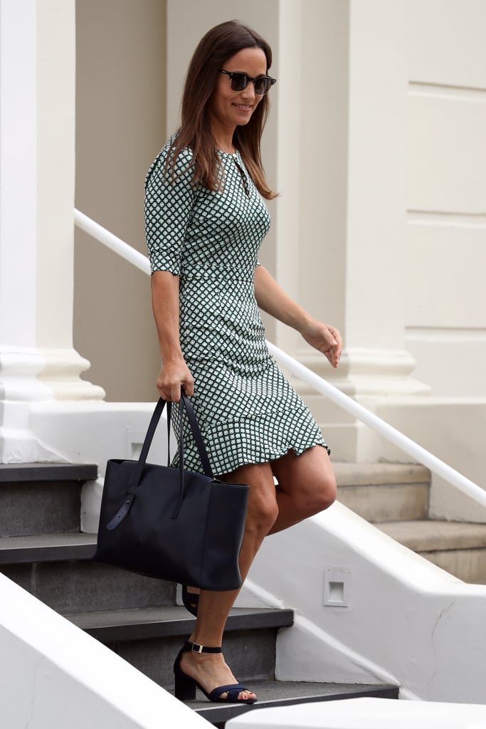 Pippa Middleton Green Print Dress July 2016