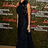 Demi Moore looked graceful in her long, dark gown at the Annenberg Gala.