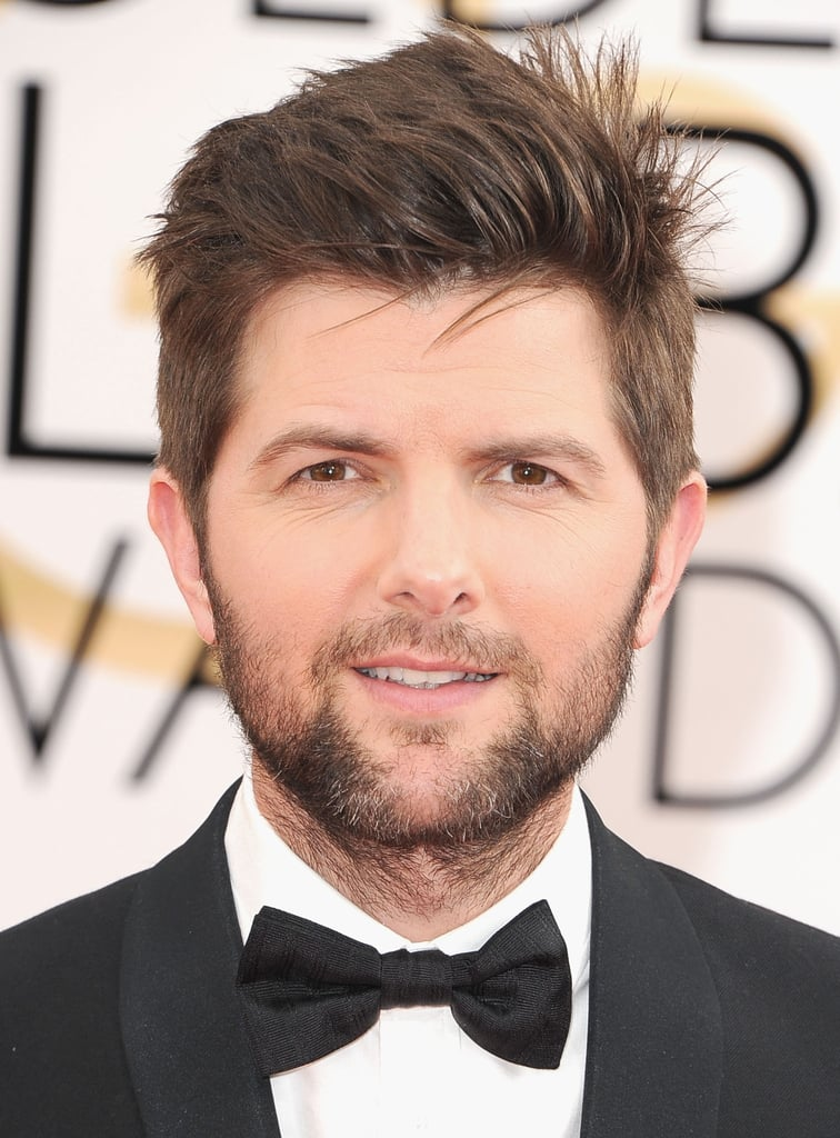 Adam Scott showed sexy scruff for the cameras.