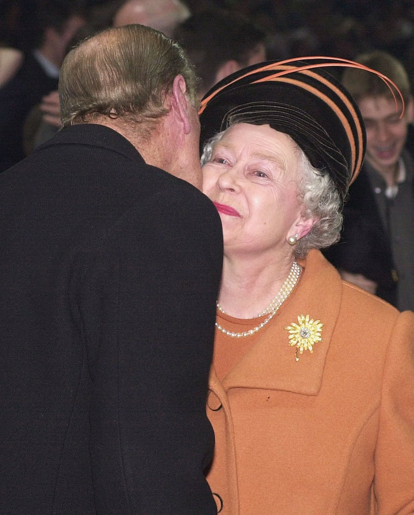 The Queen and Prince Philip at the stroke of midnight during the millennium celebrations.