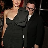 Peekaboo, we see you, Alber Elbaz —though Gemma Arterton's bow does make for crafty camouflage.