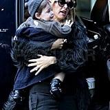 Rachel Zoe took her son Skyler Berman back to their hotel.