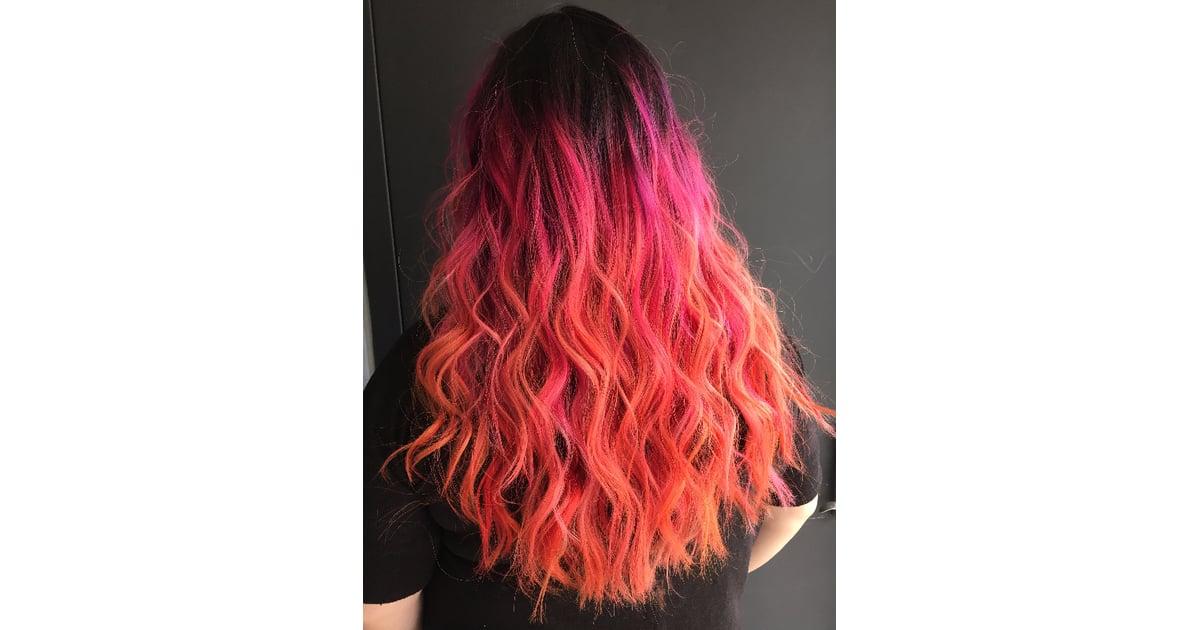 Neon Hibiscus Rainbow Hair Color Ideas For Brunettes Fallwinter
