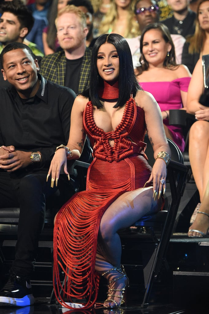 It's Time to Discuss Cardi B's Extralong Gold Nails at the VMAs