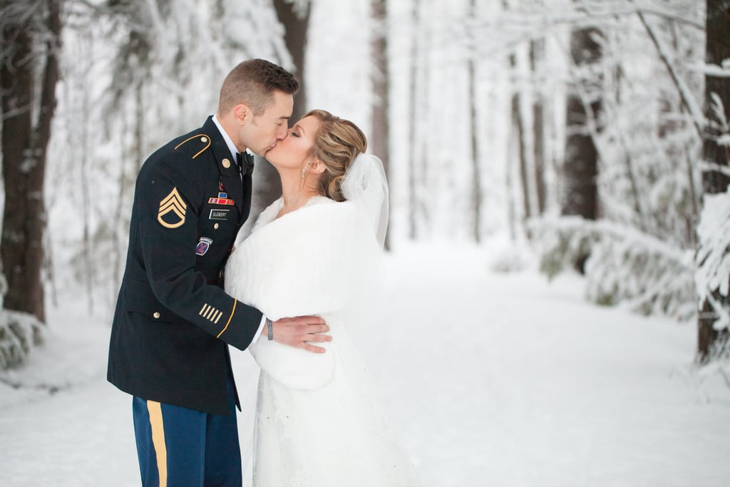 Mark and Elise took their wedding photos in Marquette, MI, of the upper peninsula. The party was surrounded by dazzlingly bright snow — and the results were nothing short of magnificent. See the wedding here!