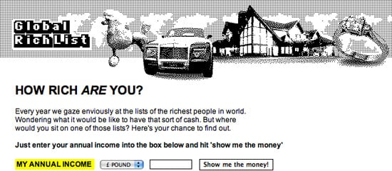 Global Rich Lists Wants You to See How Rich You Really Are