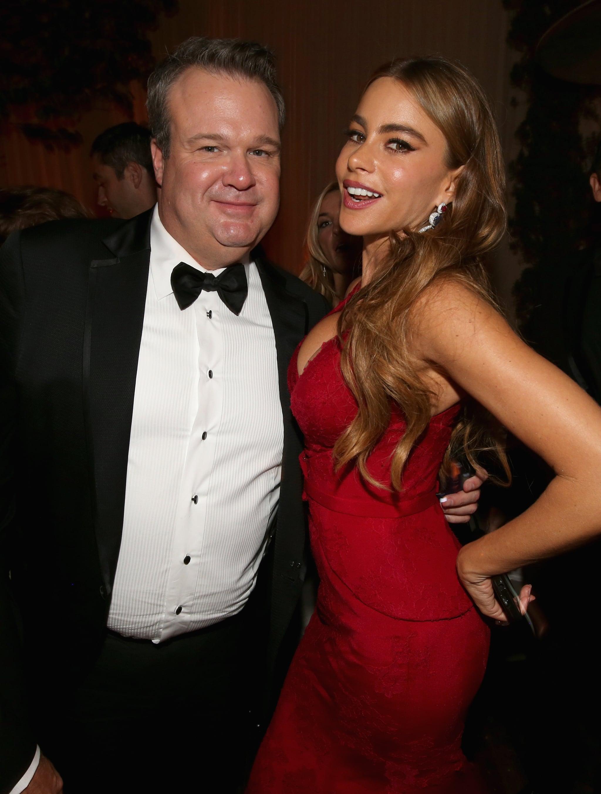 Sofia Vergara mingled with Eric Stonestreet at the Fox afterpaty.