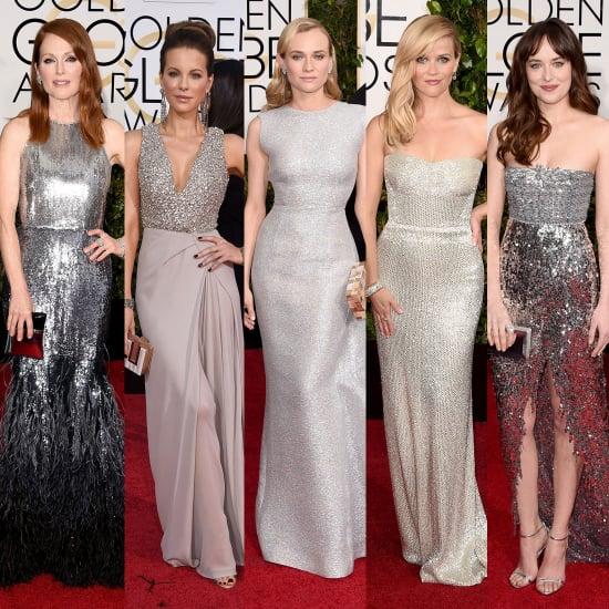 Metallic Dresses at Golden Globes 2015