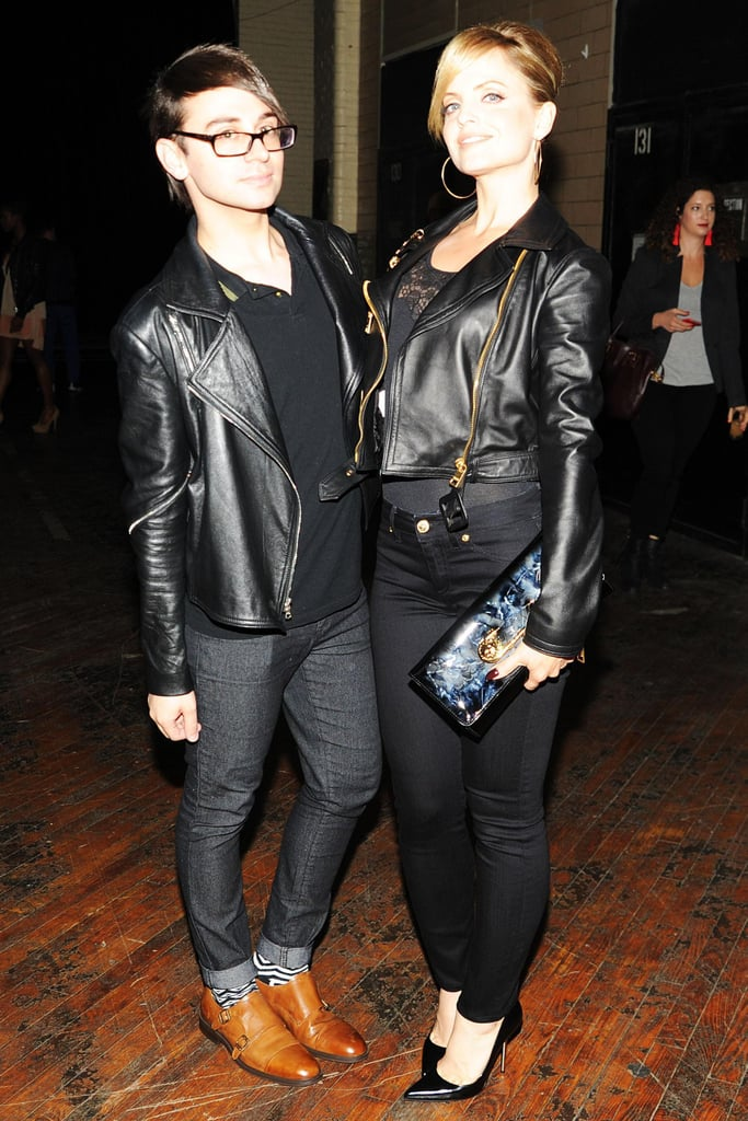 Christian Siriano and Mena Suvari at the JW Anderson for Versus Launch Party. Source: Billy Farrell/BFAnyc.com