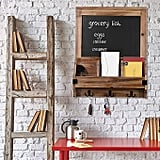 Rustic Burnt Wood Wall-Mounted Entryway Organizer
