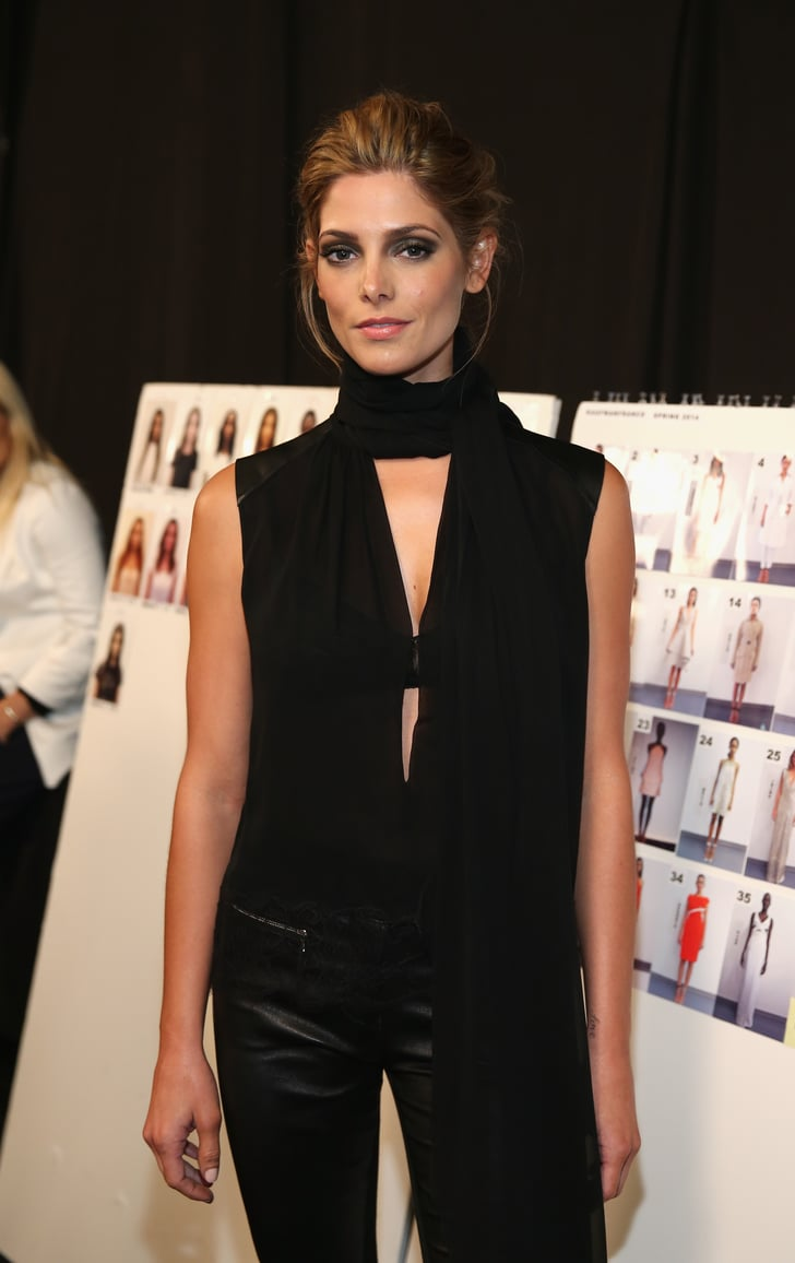 Ashley Greene looked stunning in all black as she posed ...