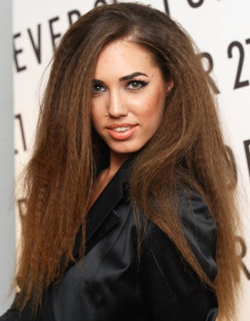 Amber Le Bon Crimped Hair, Forever 21 in London