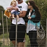 Miley Cyrus and Liam Hemsworth hung out with a young family member while vacationing in Australia in January 2010.
