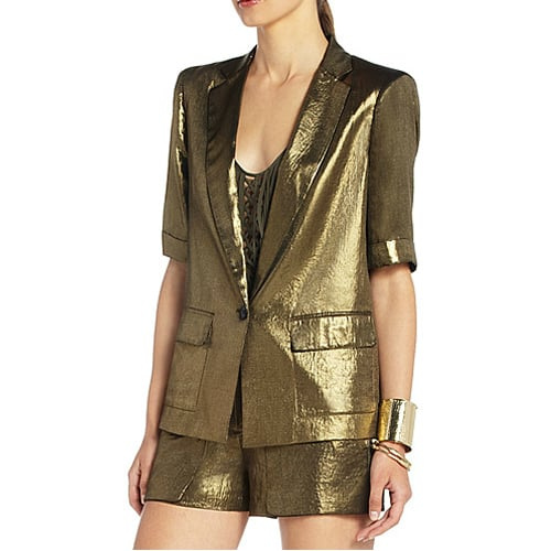 We love the idea of wearing this BCBG Max Azria Foley Metallic Blazer ($129, originally $258) with . . .