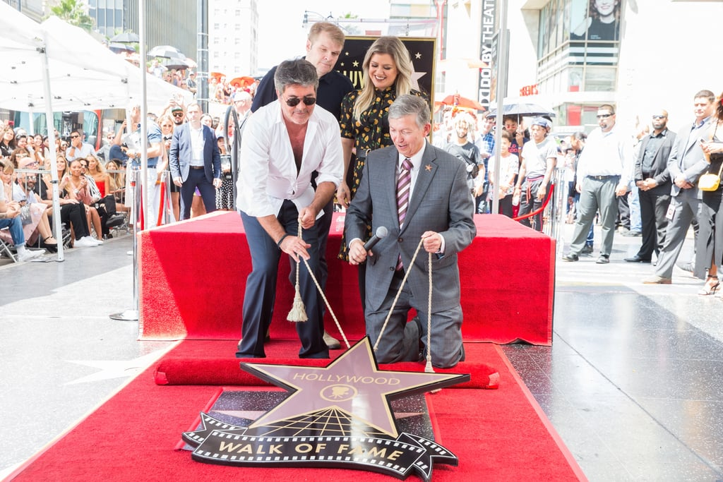Rob Stringer, Simon Cowell, Kelly Clarkson, and Leron Gruber
