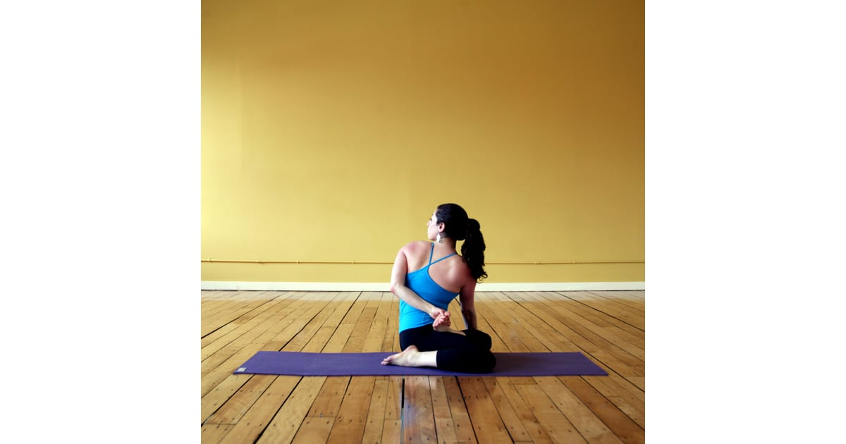 Half Lotus Spinal Twist Yoga Sequence For Saddlebags And