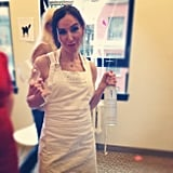 Community manager Stacia doled out the Skinnygirl margaritas as Bethenny Frankel.