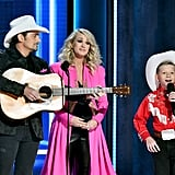 Brad Paisley, Carrie Underwood, and Mason Ramsey