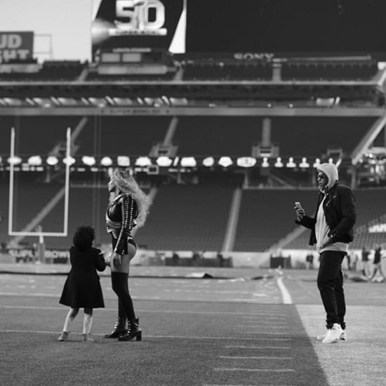 Beyonce and Blue Ivy at the Super Bowl 2016