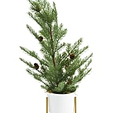 24in Faux Pinecone Tree in Pot With Stand