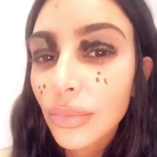 North West Doing Kim Kardashian's Makeup Nov. 2018