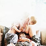 "On her three boys: ""They are pure joy and pure challenge all the time."" Source: The Glow"