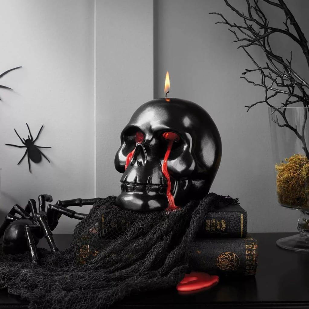 Bleeding Skull Halloween Flame Candle