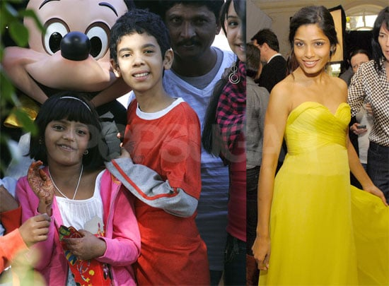 Photos of Slumdog Millionaire Cast at Disneyland, Fox Searchlight Party at Four Seasons, in Street With Oscar