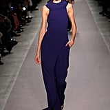 As soon as this indigo trouser set hit the Fall runway, we thought of Michelle and her ability to pull off trousers with asymmetrical tops. We think this color would do her justice up on stage while giving a speech.
