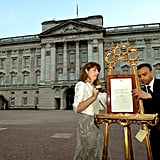 Minutes after a press release shared specifics, the official announcement was placed outside Buckingham Palace.
