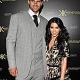 Kim Kardashian and Kris Humphries at the Kardashian Kollection launch.