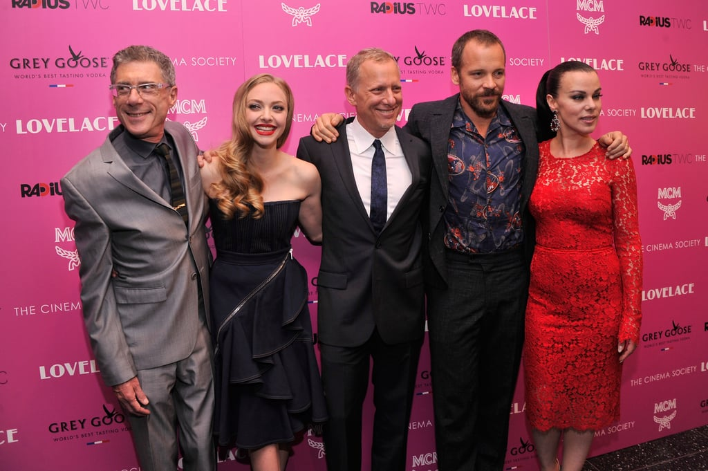 Amanda Seyfried joined Jeffrey Friedman, Rob Epstein, Peter Sarsgaard and Debi Mazar on the red carpet.