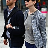 Anne Hathaway and Adam Shulman were loved up in London.