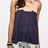 Style this cool colorblocked Silence & Noise Button-Down Top ($39) with a pair of white skinny jeans.