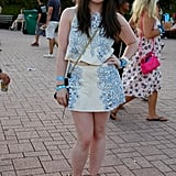 Matching sets are as hot at music festivals as they are on the red carpet, as this festivalgoer showcased.