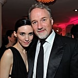 Rooney Mara caught up with David Fincher at a Golden Globes afterparty in January.