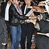 Zac Efron signed autographs for fans in Japan.